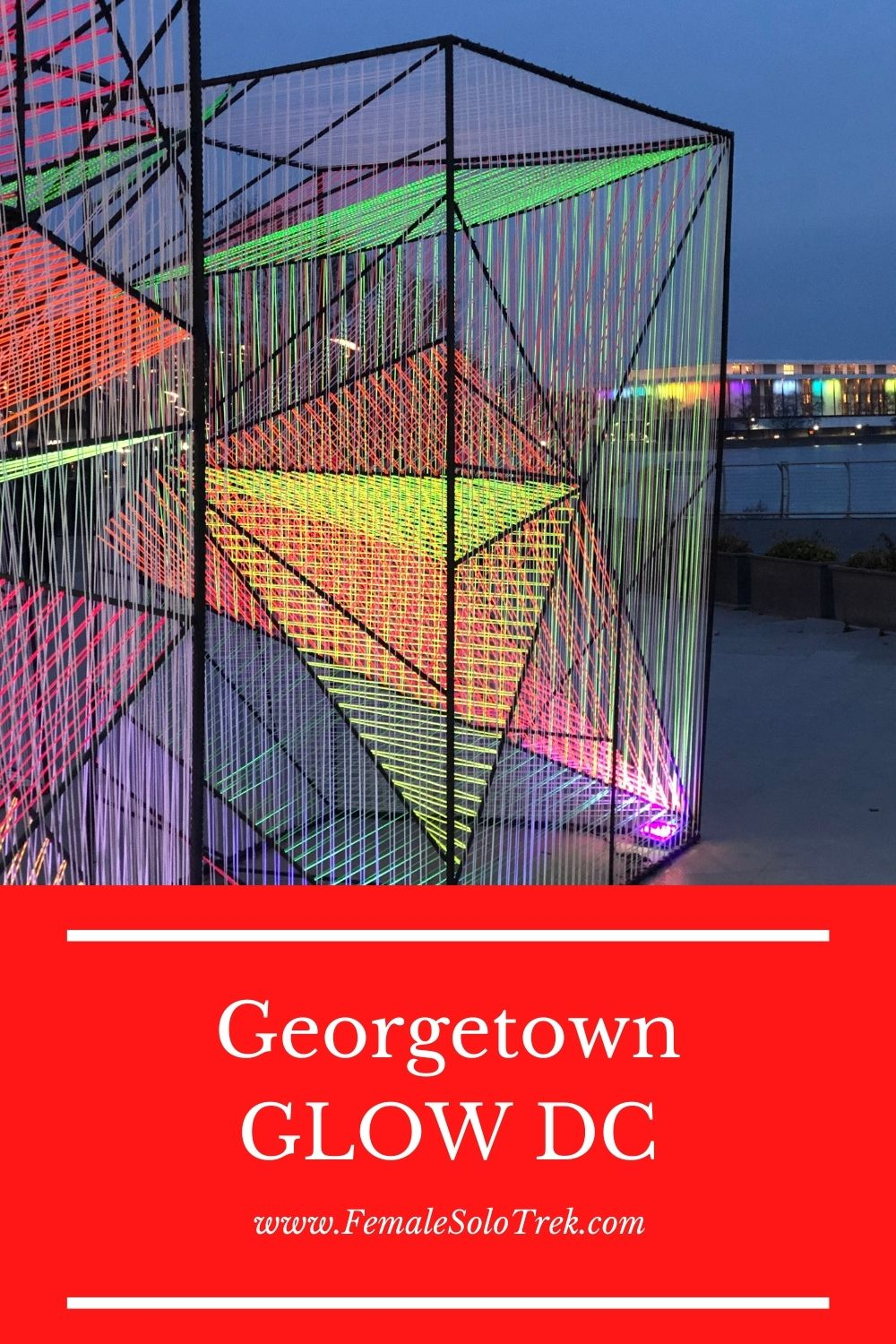Georgetown GLOW DC is the city's first curated light show.