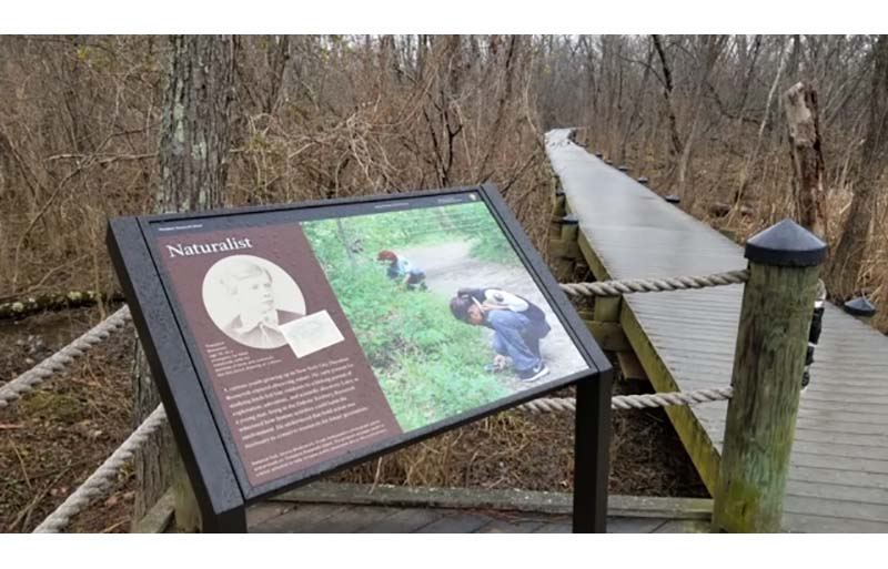 The National Park Service recently installed six new signs throughout Theodore Roosevelt Island.