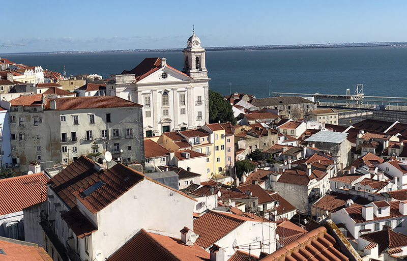 Lisbon is an easy walk from our AirBnb in Lisbon.