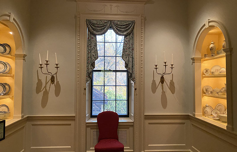 Winterthur China Hall features china collected by George Washington.