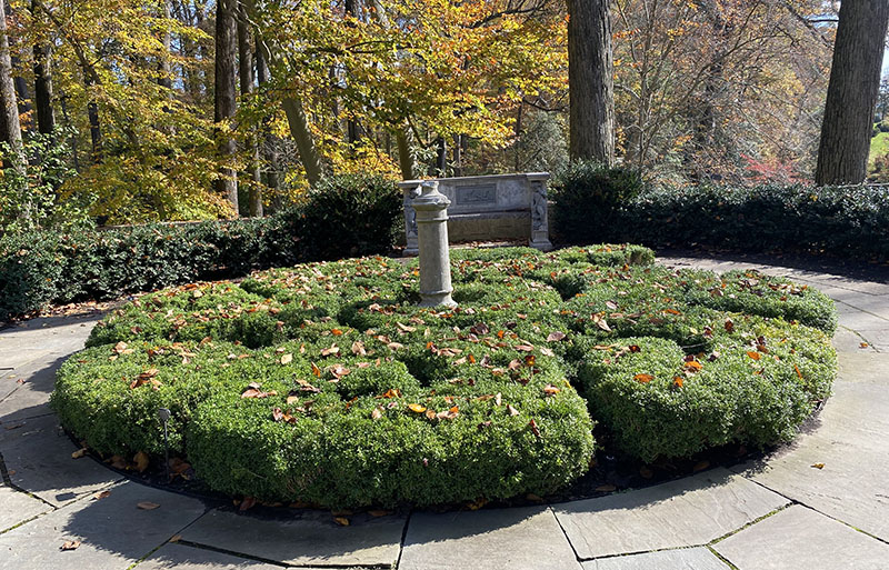 Landscaping is exquisite on the Winterthur grounds.