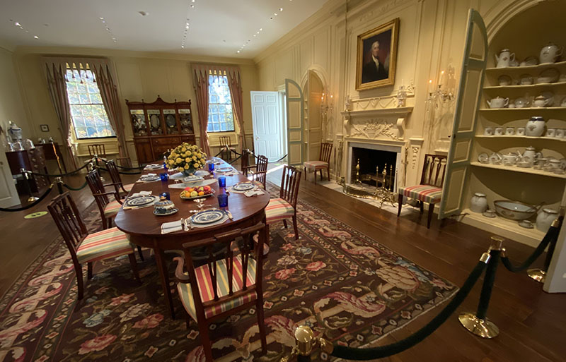 Du Pont Dining Room hosted many parties at Winterthur.