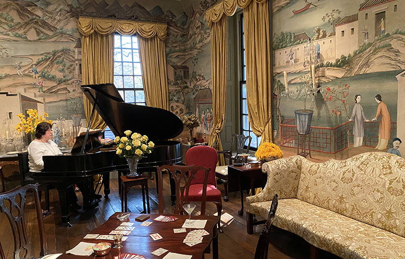 You can hear piano played during your visit at Winterthur.