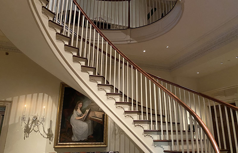 Montmorenci Stair Hall is an architectural jewel at Winterthur.