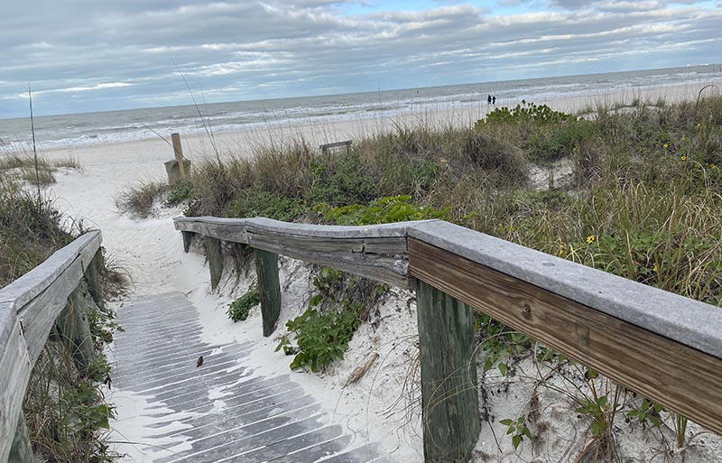 Pass-A-Grill beach walkway
