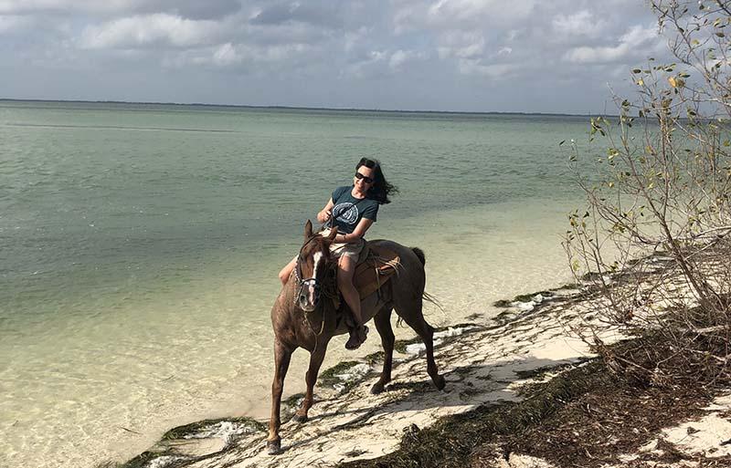 Isla Holbox horseback riding