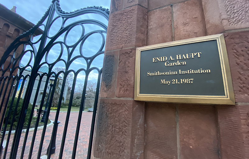 Enid Haupt bankrolled the rooftop Smithsonian garden.
