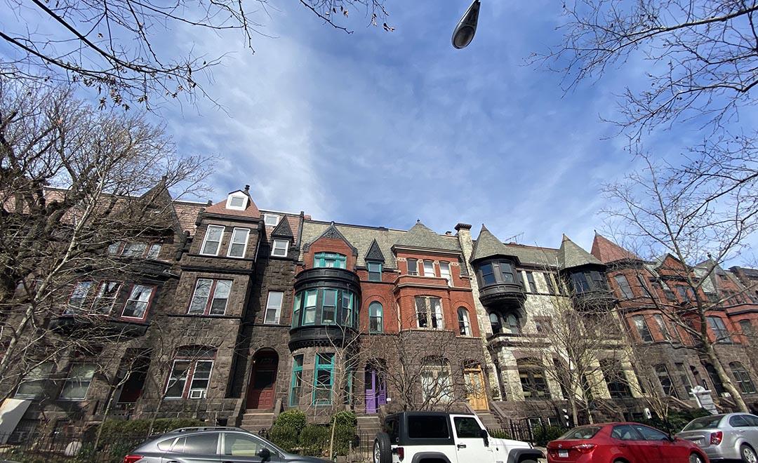Dupont Circle neighborhood row houses